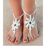 Haakpatronen barefoot sandals. Versier je voeten.